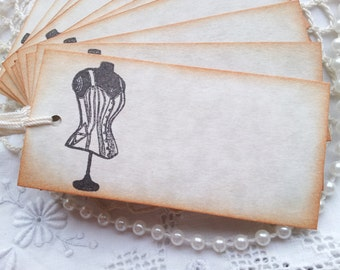 Wedding Event and Party Place Cards Food Buffet Label Tags Corset Set of 20