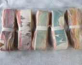 "Marbled Silk Ribbon, 10 Pattern Variety in 20"" Lengths"