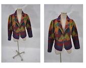 SOUTHWESTERN vintage native american navajo sweater jacket coat