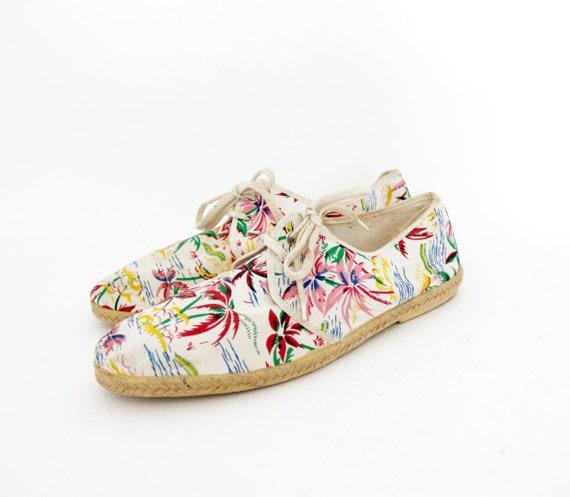 vintage shoes mens hawaiian print canvas sneakers by nemres