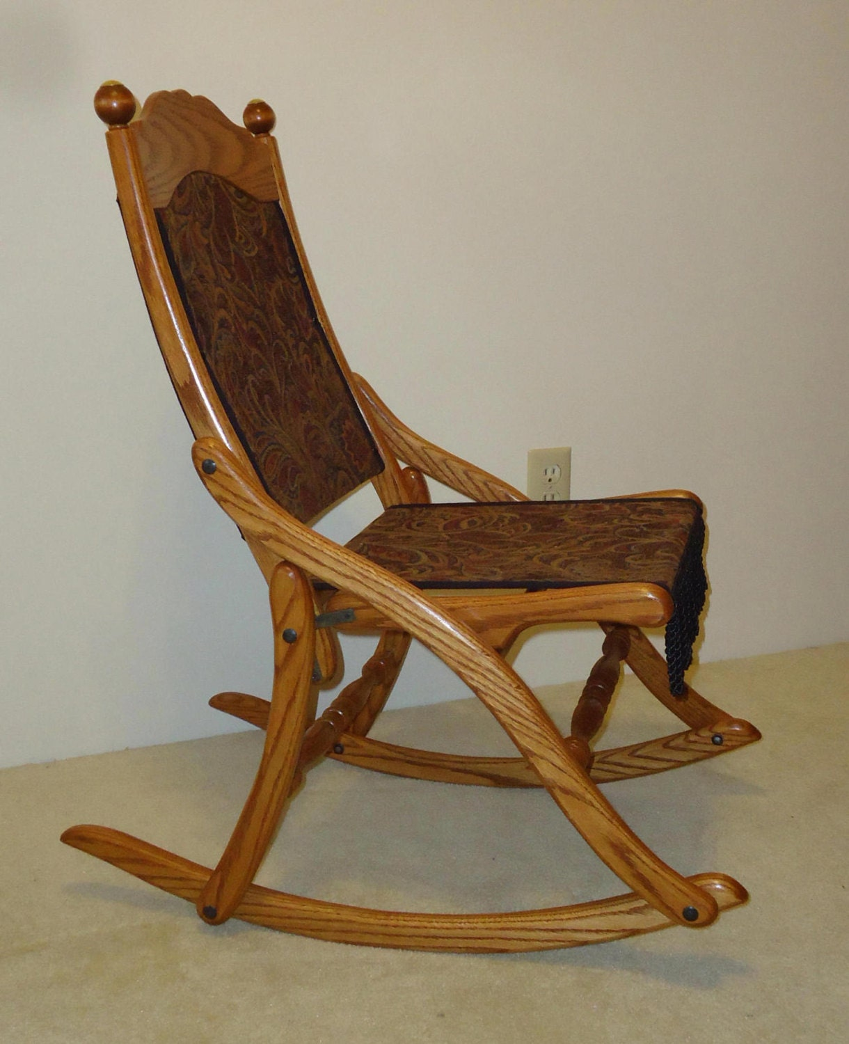 civil war folding rocking chair. Black Bedroom Furniture Sets. Home Design Ideas