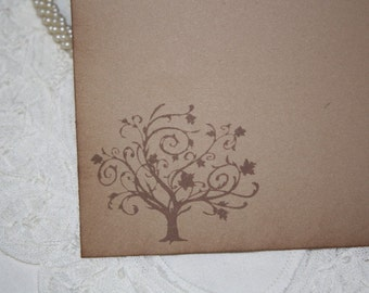 Wedding Wish Cards - Wedding Tree - Wishes for Bride and Groom - Kraft Brown - Set of 25