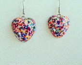 Sprinkle Heart Earrings