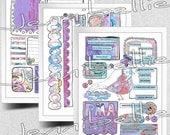 Positivity Digital Collage Sheet Set For Journaling