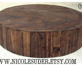 "24"" Rustic Wooden Plank Wedding Cake or Cupcake Stand (Custom Orders Welcome)"