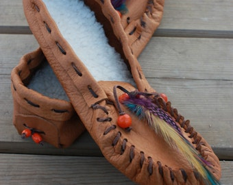 Custom Handmade Leather Moccasins Choose Your Style