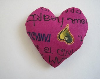 Heart Cat Toy Filled with Organic Catnip