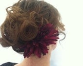 Large Purple Spiky Aater flower Hair clip