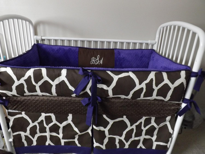 Purple And Brown Giraffe Baby Bedding Crib Sets Deposit Down