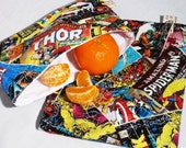 Classic Comic Book Sandwich and Snack Bag Set, Reusable