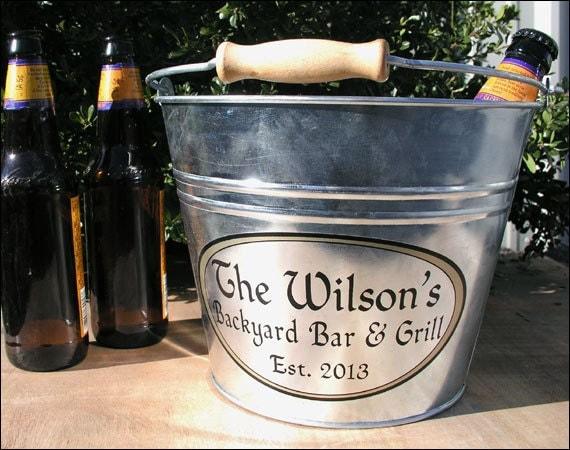 Custom Metal Bucket Galvanized Beer Bucket Or Ice Bucket