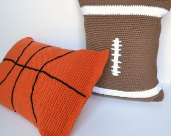 Pillow Case Crochet Pattern, football pillow case, basketball pillow case,  automatic download