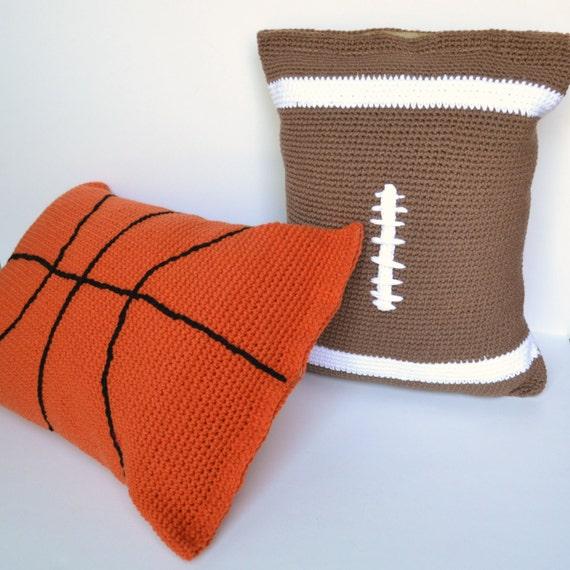 Sewing Pattern Football Pillow: Pillow Case Crochet Pattern football pillow case basketball,