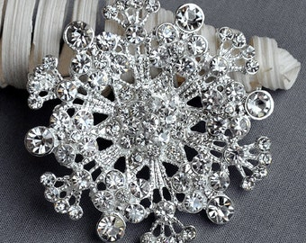 SALE Rhinestone Brooch Embellishment Crystal Pearl Wedding Brooch Bouquet Invitation Cake Decoration Hair Comb Shoe Clip BR251