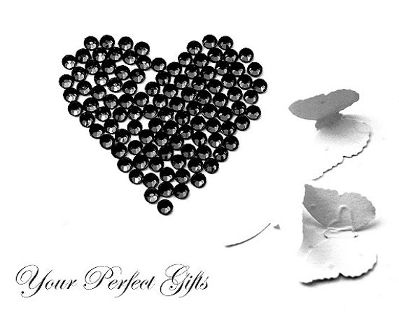 1000 pcs Acrylic Round Faceted Flat Back Rhinestone 4mm Bling Jet Black FREE Shipping USA Scrapbooking Nail Art LR007