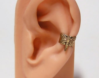 tiny Woodland Dragonfly Ear Cuff