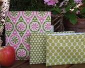 Reusable sandwich and snack bag set - Pinwheels with snack bag of your choice