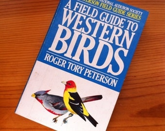 vintage 1961 field guide to western birds book paperback