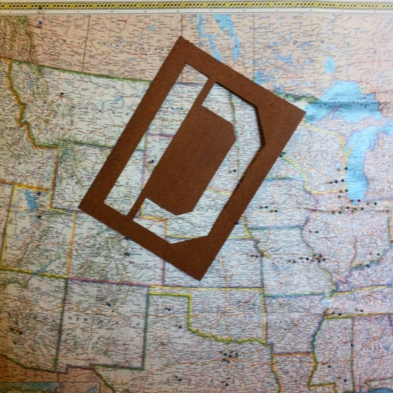 Letter D Wall Hanging Vintage Oil Board Stencil Home Decor