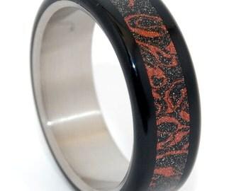 wedding rings, titanium rings, wood rings, mens rings, Titanium Wedding Bands, Eco-Friendly Rings, Wedding Rings - SAMURAI