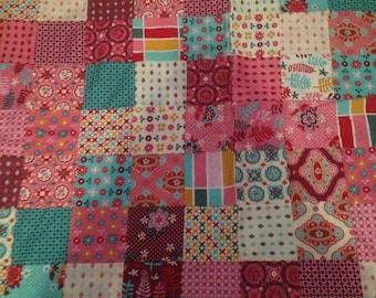 Pretty in pink patchwork quilt