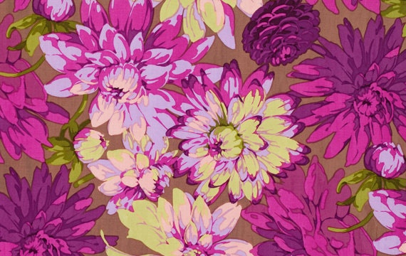 Martha Negley Classics Dahlia Plum Cotton Fabric PWMN063-PLUM - HALF YARD