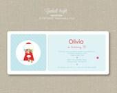 Invitations - bubble gum - bright