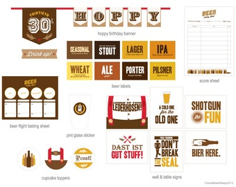 Oktoberfest Beer Tasting Party Printables