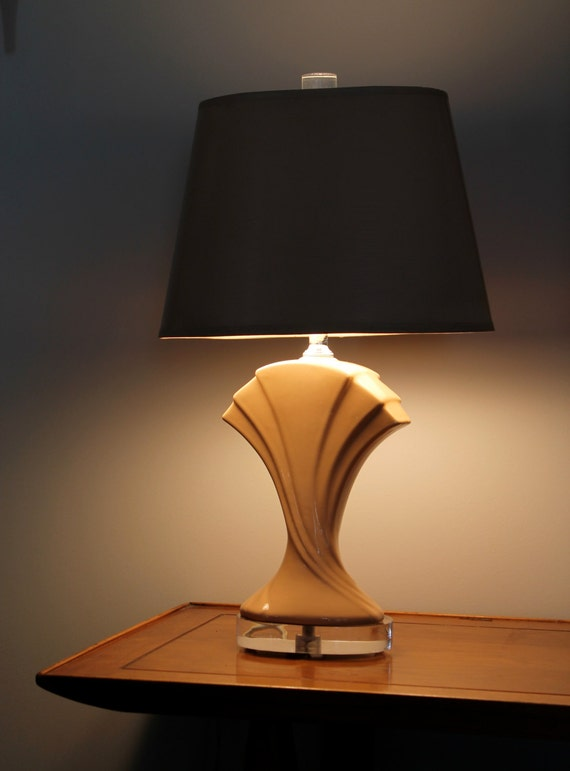 Retro art deco table lamp 70s 80s glamour - Deco table retro ...