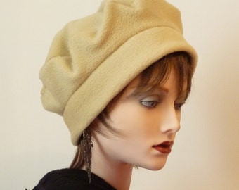 Sale Item, Womens Cozy and Warm Beige Fleece Hat