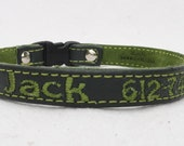 Personalized Cat Collar with Breakaway Buckle by Ruggit Collars