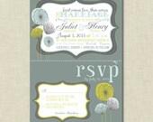 The Juliet Floral Modern Wedding Invitation Suite