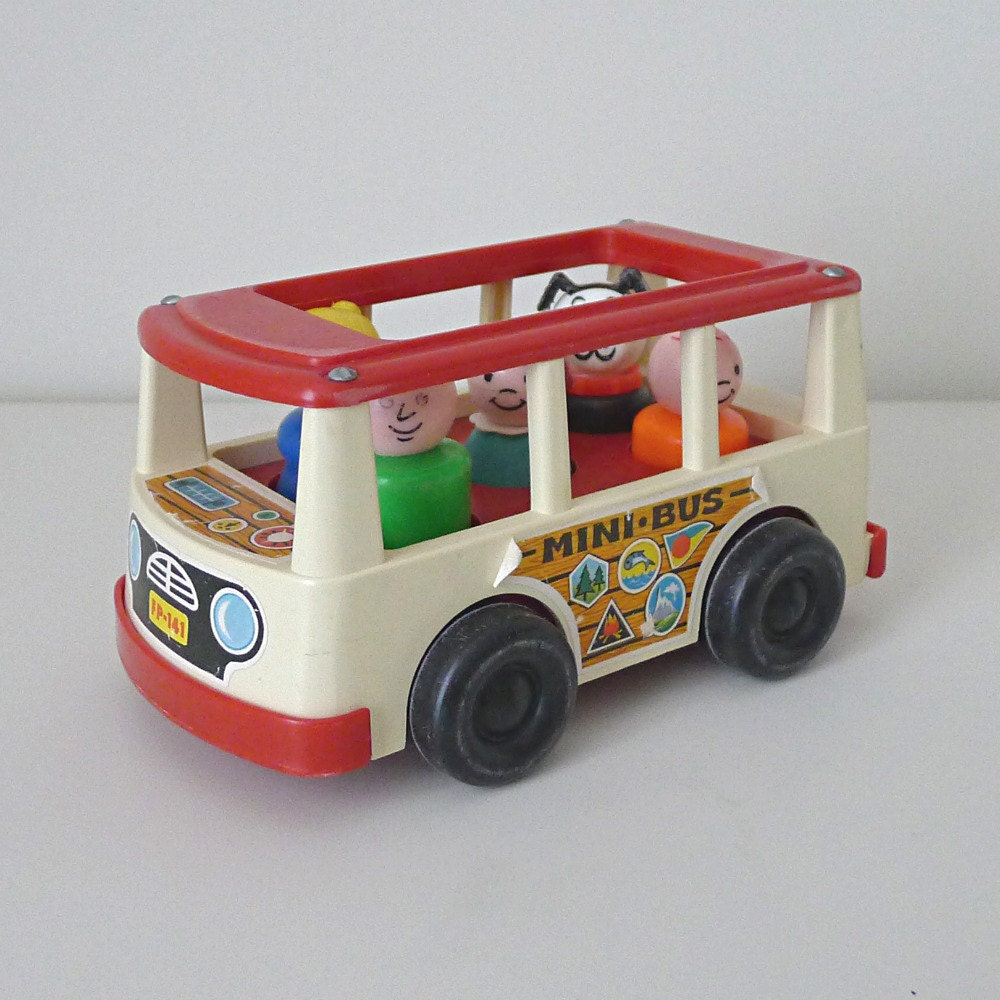 vintage toy car 1960s fisher price mini bus no 141 for. Black Bedroom Furniture Sets. Home Design Ideas