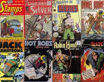 ACTION & ADVENTURE Comics Series DVD - Golden Age Charlton Robin Hood Terry Pirate