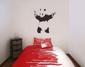 Banksy Panda Wall Stickers