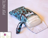Diaper and Wipe Clutch with Wrist Strap PDF Sewing Pattern /Tutorial from The Sweetest Patterns - Instant Download Pattern