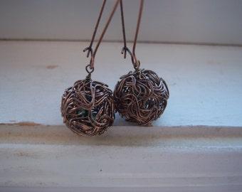 Bird Nest Earrings - Woodland Wedding Earrings  - Bride Earrings