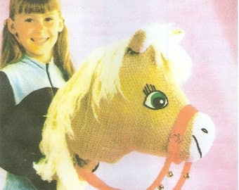 Knitting Pattern Hobby Toy Horse  PDF Instant Download