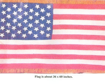 American Flag Afghan Throw Crochet Pattern Pdf Instant Download