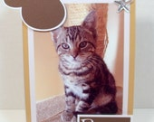 Cat Frame Personalized - 5x7 or 4x6 Photo - Paw Print - You Choose the Colors