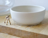 Made to order - A set of four large stoneware pottery salad bowls bowls for your kitchen
