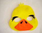 Children's DUCK Felt Mask