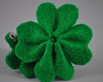 Four Leaf Clover Hair Barrettes - Set of 2