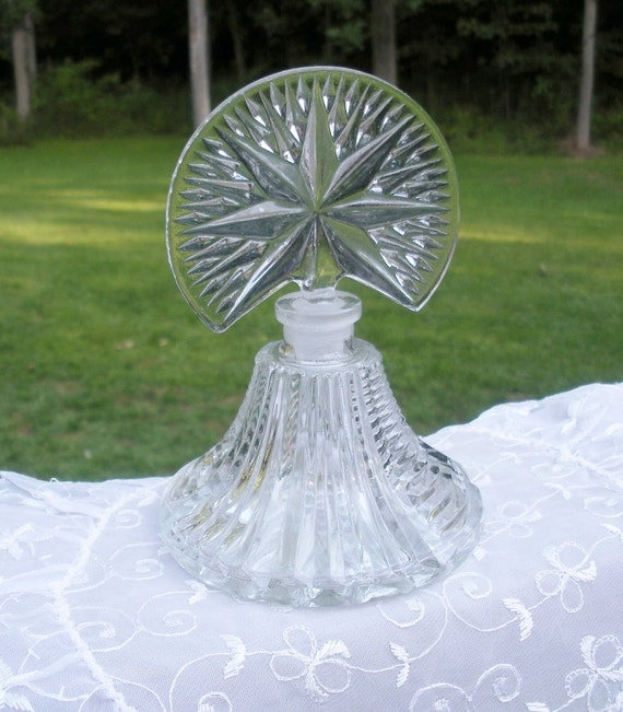 RESERVED for Jen - Vintage Art Deco Glass Perfume Bottle