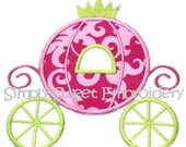 Cinderella Princess Carriage Applique Design