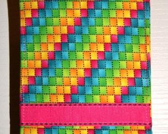 Bright, Multi-colored Checks iPhone Cover, Fabric Cell Phone Case,  iPod accessory