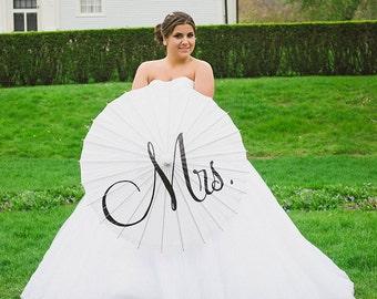 MR & MRS Parasol Umbrella Custom Wedding Engagement Sign Personalized Wedding Photo Decor Ceremony Decoration