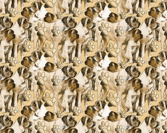Mastiff dog  fabric