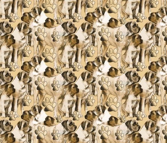 Mastiff dog  fabric