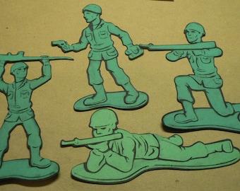 Green Army Men Paper piecings Choose 1